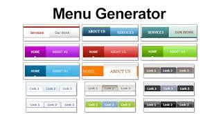html header design online online menu generator