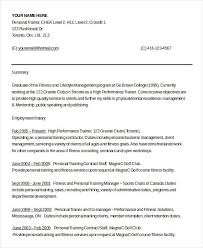 trainer resume examples
