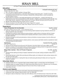 Resume Samples For Lecturer In Computer Science by Political Science Resume Sample Http Resumesdesign Com