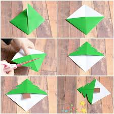 christmas tree corner bookmarks origami for kids easy peasy
