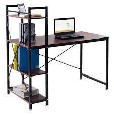 Office Desk With Shelves by 4 Tier Storage Shelves Computer Desk Desks Office Furniture
