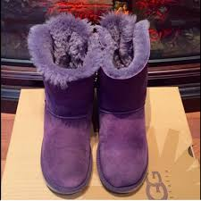 ugg bailey bow sale size 7 72 ugg shoes closing closet purple bailey bow uggs from
