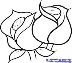 how to draw roses for kids step by step flowers for kids for