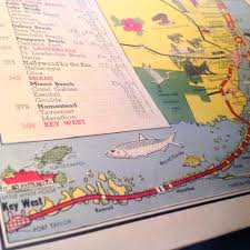 Deerfield Florida Map by Flashback Friday Tourist Map Of Florida From 1950 The Florida