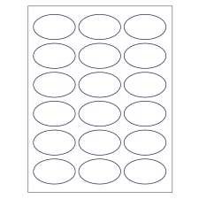 Label Printing Template 21 Per Sheet by Templates For Oval Labels Avery Com