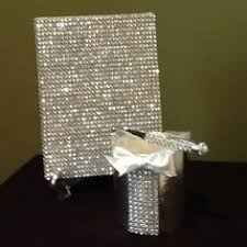 wedding guest book set bling gold wedding guestbook wedding guest book rhinestone
