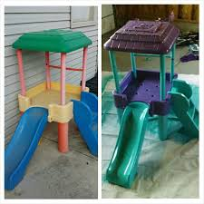 diy project spray paint plastic little tikes outdoor toys spray