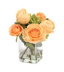 silk roses distinctive designs waterlook silk roses and hydrangeas in glass