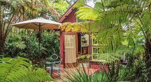 Backyard Volcano Ferny Hollow Romantic Rainforest Cottage Book Online Bed