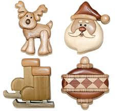 Free Wood Carving Patterns For Christmas by Holiday Intarsia Ornaments Project Pattern Wood Christmas