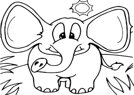 elephant in the forest coloring page wecoloringpage