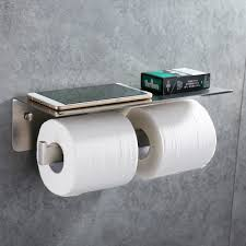 strong man toilet paper holder amazon com double toilet paper holder apl sus304 stainless steel