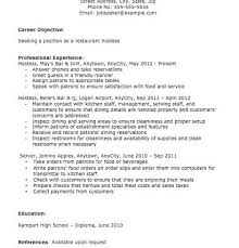 Host Resume Sample by Hostess Resume Examples Nfgaccountability Com