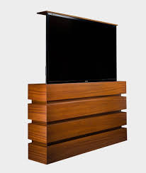 big screen tv cabinets cabinet tronix creates customized pop up tv stands for large 60 70