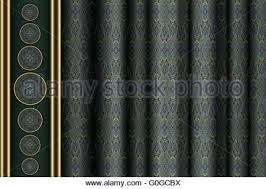 Fabric Drapes Green Fabric Drapes With Ornament Background Eps10 Gradient