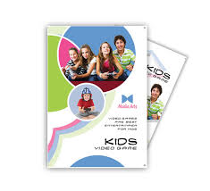 kids video games brochure templates