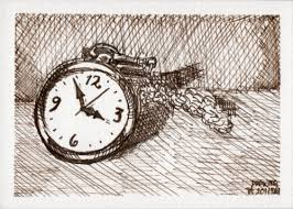 watch original pen and sepia ink sketch for drawing day 2011 aceo