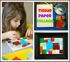 tissue paper collage guest post from mess for less housing a