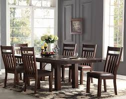 Dining Room Side Chairs Dining Table With Four Side Chairs The Furniture Mart