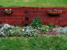 85 best garden walls images on pinterest wood retaining wall