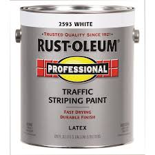 shop rust oleum professional traffic striping white flat acrylic