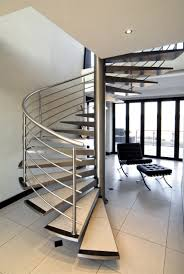 floating staircase kit decoration using spiral stainless steel