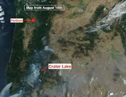 Oregon Forest Fires Map by Solar Eclipse Weather Mountain Weather
