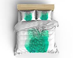 pineapple duvet cover comforter pineapple bedding modern