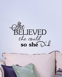 amazon com 2 she believed she could so she did cute nursery amazon com 2 she believed she could so she did cute nursery wall vinyl decal inspirational quote art saying sticker lettering stencil decor baby