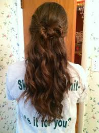 bow hair curled hair with a bow 01 hairstyles easy hairstyles for