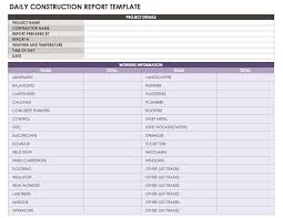 daily site report template construction daily reports templates or software smartsheet