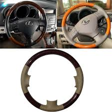 lexus rx 400h price in cambodia 03 08 lexus rx330 rx350 rx400h leather wood steering wheel cover