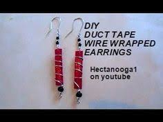 duct earrings diy wire wrapped duct earrings jewelry duct