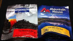 comparison mountain house and backpackers pantry food youtube