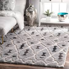 nuloom soft and plush moroccan diamond grey shag rug 4 u0027 x 6