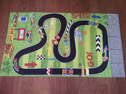 race car track roll up play mat toy car pockets playmat car