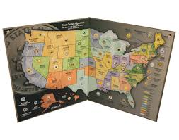 States Ive Been To Map by Amazon Com State Quarter Map Us State Quarter Collection Toys