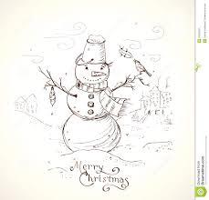 drawing christmas card christmas lights decoration