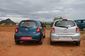 nissan micra 2013 2013 nissan micra vs old nissan micra comparison rear indian