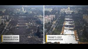 picture of inauguration crowd photos appear to show smaller crowd for trump u0027s inauguration than