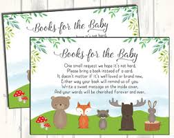 baby shower instead of a card bring a book baby shower insert etsy