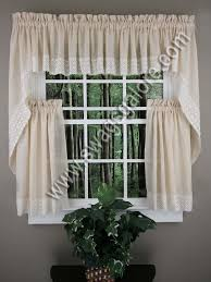 Butterfly Kitchen Curtains Salem Kitchen Curtains U2013 French Vanilla Lorraine Kitchen