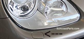 porsche cayenne headlights suncoast porsche parts accessories headlight washer cap