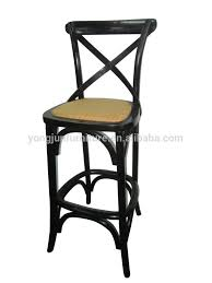 Cross Back Bistro Chair Hot Sale Bar Chairs Cross Back Bar Stool High Chair Wood Bar Chair