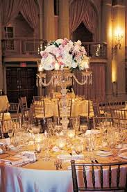 Wedding Centerpieces With Crystals by Blush Ballroom Wedding With Crystal Details In Los Angeles