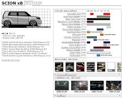scion xb touchup paint codes image galleries brochure and tv