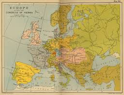 Vienna Map Of Europe After The Congress Of Vienna 1815