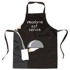 tablier cuisine noir tablier de cuisine noir madame est servie coton enduit
