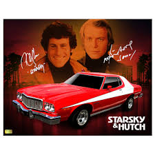 What Was The Starsky And Hutch Car David Soul And Paul Michael Glaser Autographed 11x14 Starsky And