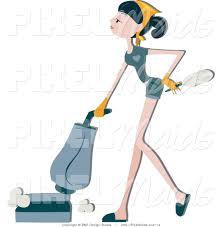 Vaccumming Royalty Free Vacuuming Stock Maid Designs
